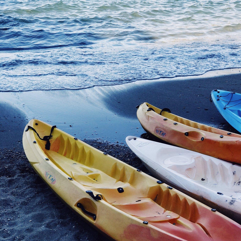 Image of kayaks