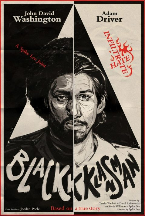 "Poster Image of Best Adapted screenplay movie ""BlacKkKlansman"""