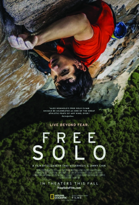 """Poster Image of Oscar winning Documentary Feature """"Free Solo"""""""